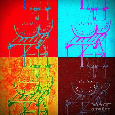 Watermelon On A Chair Art Print