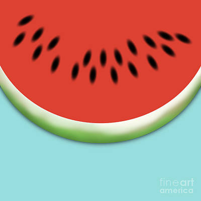 Hot Dogs Digital Art - Watermelon Slice by Jason Freedman
