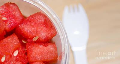 Watermelon Slices Served Horizontal Art Print