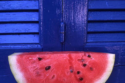 Watermelon Photograph - Watermelon by Steve Outram