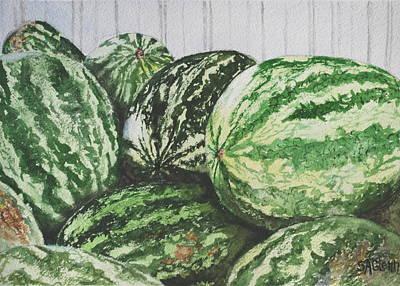 Watermelon Print by Sue Ann Glenn