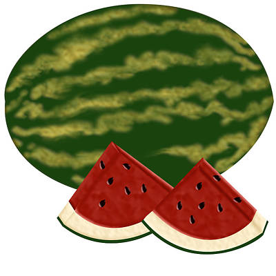 Digital Art - Watermelon Time by Melissa Stinson-Borg