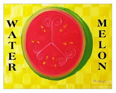Watermelon Time Art Print by Nathan Rodholm