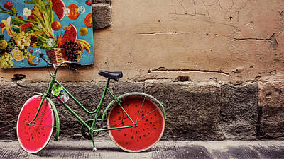 Transportation Royalty-Free and Rights-Managed Images - Watermelon Wheels by Happy Home Artistry