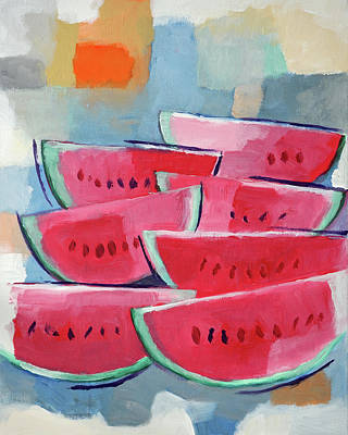 Painting - Watermelons by Lutz Baar