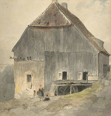 Drawing - Watermill by Ernst Erwin Oehme