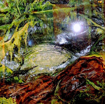 Olympic National Park Painting - Waterpool by Kimberly Simon