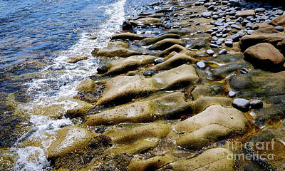 Photograph - Rocks On Waters Edge by Lexa Harpell