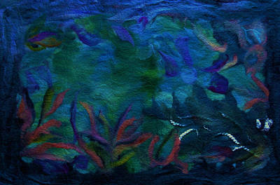 Under The Sea Mixed Media - Waters Of A Primitive Ocean by Susana Lavega