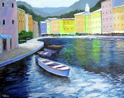 Painting - Waters Of Portofino  by Larry Cirigliano