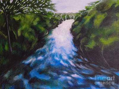 Painting - Water's Pathway by Alison Caltrider