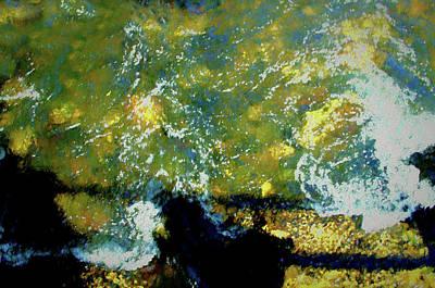 Digital Art - Waters Under The Bridge by Aliceann Carlton