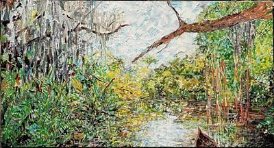 Painting - Waters We  Billys Creek by Caroline Krieger Comings