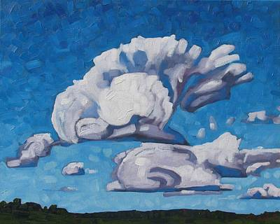 Painting - Watershed Cumulus by Phil Chadwick