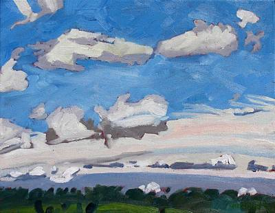 Watershed Painting - Watershed Farm Cumulus Fractus by Phil Chadwick