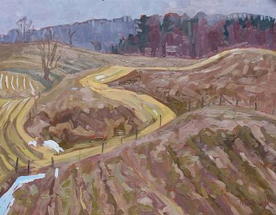 Watershed Painting - Watershed Trails by Phil Chadwick