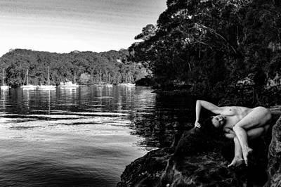 Naturist Art Photograph - Waterside Nude I by John Bonnett