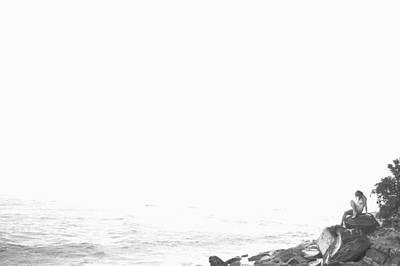Naturist Art Photograph - Waterside Nude Iv by John Bonnett