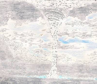 The Plateaus Drawing - Waterspout by Al Goldfarb