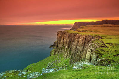 Photograph - Waterstein Head Coastline by Benny Marty