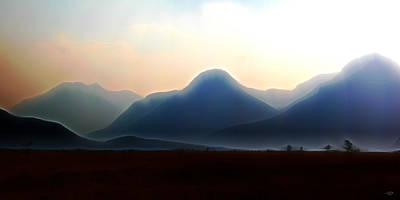 Digital Art - Waterton - Mountain Panorama by Stuart Turnbull