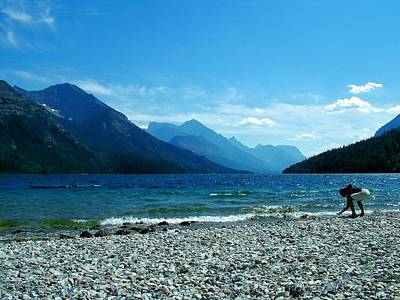 Photograph - Waterton Beachcomber by Tracey Vivar