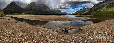Photograph - Waterton Glacier Peaceful Reflections by Adam Jewell