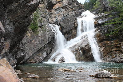 Photograph - Waterton Lake Cameron Falls by Wilko Van de Kamp