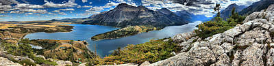 Photograph - Waterton Lakes Endless Panorama by Adam Jewell