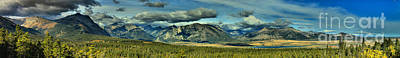 Photograph - Waterton Lakes Mountain Range by Adam Jewell