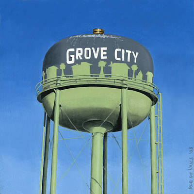 Painting - Watertower Grove City by Rob De Vries