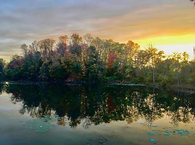 Photograph - Waterview Pond At Sunset by Kathleen McGinley
