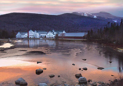 Photograph - Waterville Valley Sunset by Nancy Griswold