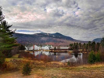 Photograph - Waterville Valley Town Square In November by Nancy Griswold