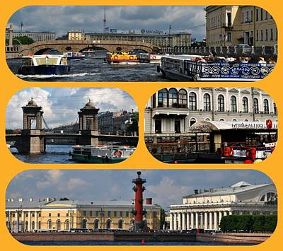 Photograph - Waterways Of St Petersburg by Jacqueline M Lewis