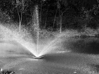 Photograph - Waterworks- Black And White by Alohi Fujimoto