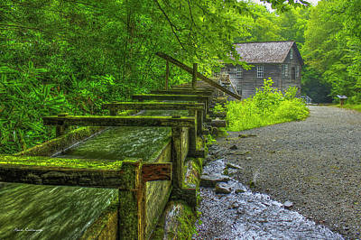 Photograph - Waterworks Mingus Mill Mingus Creek Art  Great Smoky Mountains Art by Reid Callaway