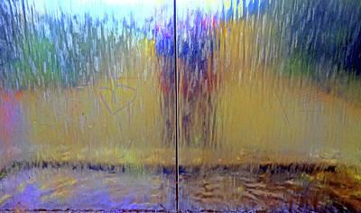 Photograph - Watery Rainbow Abstract by Nareeta Martin