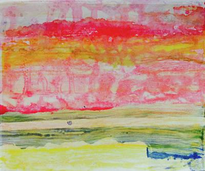 Watery Seascape Art Print