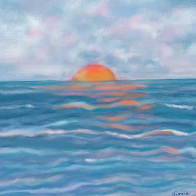Painting - Watery Sun by Christine Fournier