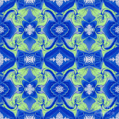 Painting - Watery Tiles by Lori Kingston