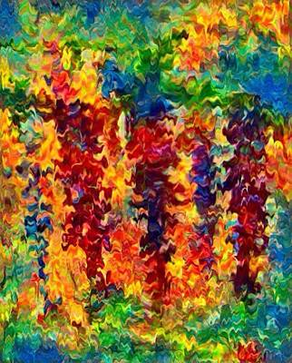 Digital Art - Watery Wisteria by Megan Walsh