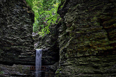 Photograph - Watkins Glen Cavern Cascade Waterfall #2 by Stuart Litoff