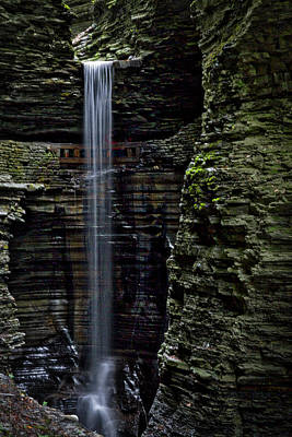 Photograph - Watkins Glen Cavern Cascade Waterfall #3 by Stuart Litoff