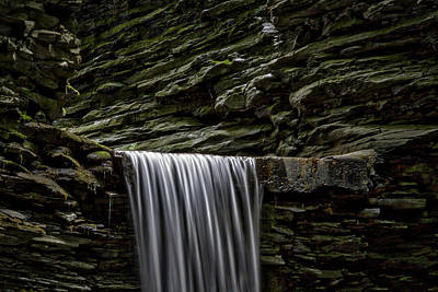 Photograph - Watkins Glen Cavern Cascade Waterfall by Stuart Litoff