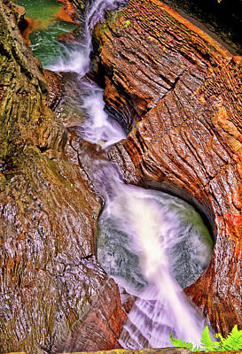 Photograph - Watkins Glen - Rainbow Falls 005 by George Bostian