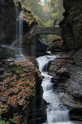 Art Print featuring the photograph Watkins Glen Rainbow Falls by Joshua House