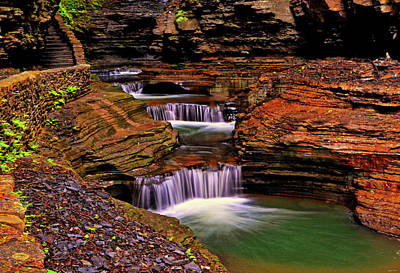 Photograph - Watkins Glen State Park 014 by George Bostian