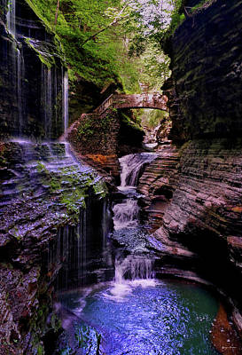 Photograph - Watkins Glen State Park - Rainbow Falls 002 by George Bostian