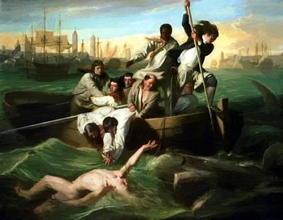 Painting - Watson And The Shark 1782 by Copley John Singleton